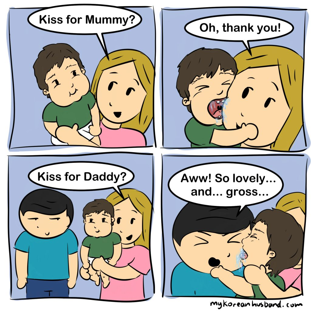 toddler kisses comic